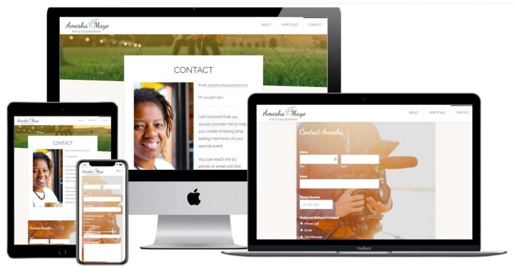 Amesha Mayo - Multi Device Website Mockup Generator - contact